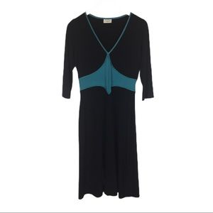 Leona Edminston Frocks black and turquoise…